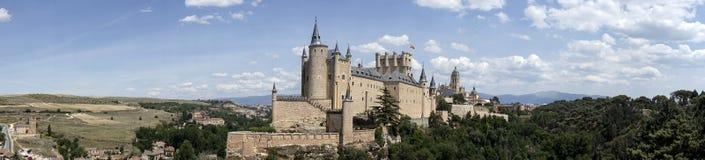 Zabytki miasto Segovia Istny Alcazar, Hiszpania fotografia royalty free