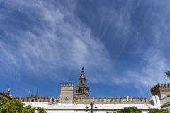Zabytki Seville, los angeles Giralda Obraz Stock