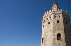 Zabytki Seville, Los Angeles Torre Del Oro Zdjęcia Royalty Free