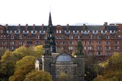 Zabytki w książe ulicy parku, Edynburg, Szkocja Obraz Royalty Free
