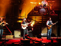 Zac Brown band i konsert Royaltyfri Bild