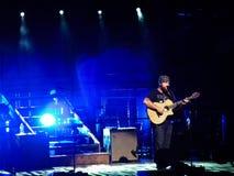 Zac Brown canta en etapa Fotos de archivo libres de regalías