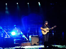 Zac Brown sings on stage Royalty Free Stock Photos