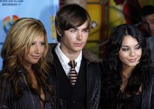 Zac Efron, Vanessa Hudgens και Ashley Tisdale Στοκ φωτογραφία με δικαίωμα ελεύθερης χρήσης