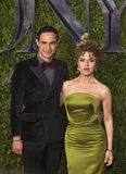 Zac Posen and Bernadette Peters at 2015 Tonys Stock Photos