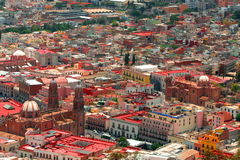 Zacatecas aerial. Aerial view of the city of zacatecas in mexico Royalty Free Stock Photo