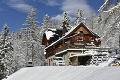 Zacchi Mountain Hut, North Italy, Europe Stock Image
