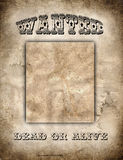 zachód plakatu dziki Fotografia Stock