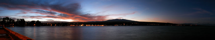 zachód słońca mauna hilo kea Zdjęcia Royalty Free