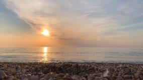 Zachód słońca na morzu zbiory