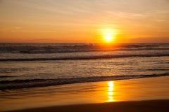 zachód słońca na oceanie indyjskim Obraz Stock