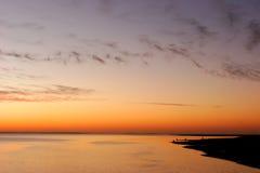 zachód słońca na plaży Zdjęcie Stock