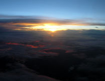 zachód słońca nad Obrazy Stock
