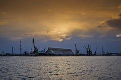 zachód słońca nad lewym Obrazy Royalty Free