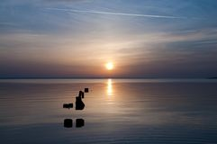 zachód słońca nad morza czarnego Fotografia Royalty Free