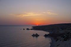 zachód słońca nad morza czarnego Obraz Stock