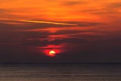 zachód słońca nad morza czarnego Obrazy Stock