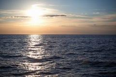 zachód słońca nad morza czarnego Obraz Royalty Free