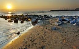 zachód słońca nad ocean Fotografia Royalty Free