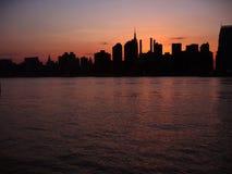 zachód słońca nowego jorku Zdjęcia Stock