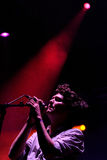 Zach Condon, Mexican singer of Beirut band, performs at San Miguel Primavera Sound Festival Stock Photography