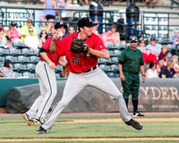 Zach Thompson, Kannapolis Intimidators. Stock Image