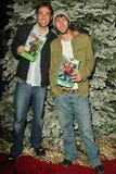 Zachary Levi en Joel David Moore Stock Afbeelding