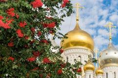Zachatievskiy monaster ceremonia ślub kościelny obrządku Obrazy Royalty Free