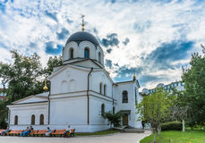 Zachatievskiy monaster ceremonia ślub kościelny obrządku Obraz Royalty Free
