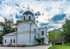 Zachatievskiy Monastery. The Church. Russia. Moscow. Orthodox Monastery. The Church inside the Zachatievskiy Monastery. Summer. 2014 Royalty Free Stock Image