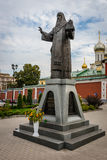 Zachatievskiy Monastery. Monument. Russia. Moscow. Orthodox Monastery. The Monument in front of the Zachatievskiy Monastery. Metropolitan Aleksiy royalty free stock photos
