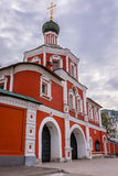 Zachatievskiy Monastery. Monument. Russia. Moscow. Orthodox Monastery. The main entrance of the Zachatievskiy Monastery. Summer. 2014 Royalty Free Stock Images