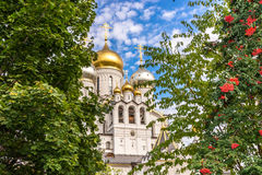 Zachatievskiy Monastery. Russia. Moscow. Orthodox Monastery. The Church inside the Zachatievskiy Monastery. Summer. 2014 royalty free stock images