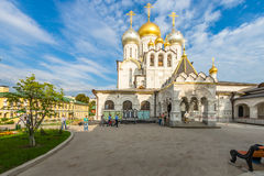 Zachatievskiy Monastery. Russia. Moscow. Orthodox Monastery. The Church inside the Zachatievskiy Monastery. Summer. 2014 stock photos
