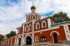 Zachatievskiy Monastery. Russia. Moscow. Orthodox Monastery. The main entrance of the Zachatievskiy Monastery. Summer. 2014 royalty free stock images