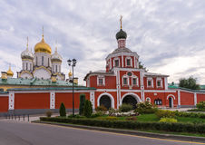Zachatievskiy Monastery. Russia. Moscow. Orthodox Monastery. The main entrance of the Zachatievskiy Monastery. Summer. 2014 stock images