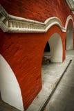 Zachatievskiy Monastery. Wall with columns. Russia. Moscow. Orthodox Monastery. The wall with columns inside the Zachatievskiy Monastery. Summer. 2014 Royalty Free Stock Photos