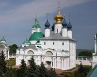 zachatievsky大教堂的rostov Yakovlevsky救主修道院, 免版税库存图片