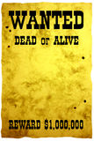 zachód plakatu dziki Obraz Stock