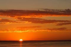 zachód słońca na plaży Zdjęcia Royalty Free