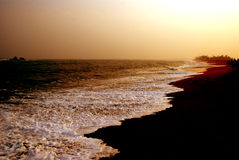 zachód słońca na plaży Zdjęcie Royalty Free