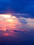 zachód słońca nad chmury Zdjęcia Royalty Free