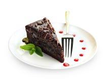 Zacher czekoladowy tort zdjęcia stock