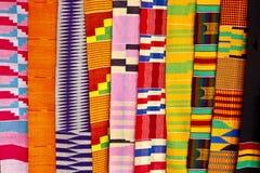 Zachodni - afrykańska tkanina Zdjęcia Stock