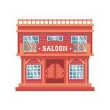 Zachodni barów drzwi ilustracji