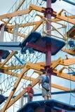 ZACHODNI - Berlin, NJ - MAJ 28: Diggerland usa, budowy przygody o temacie park Obrazy Stock