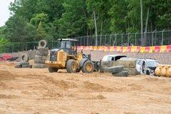 ZACHODNI - Berlin, NJ - MAJ 28: Diggerland usa, budowy przygody o temacie park Zdjęcia Stock