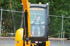 ZACHODNI - Berlin, NJ - MAJ 28: Diggerland usa, budowy przygody o temacie park Zdjęcia Royalty Free