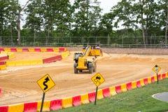 ZACHODNI - Berlin, NJ - MAJ 28: Diggerland usa, budowy przygody o temacie park Obrazy Royalty Free