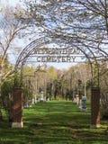 Zachodni Covehead cmentarz na książe Edward wyspie Zdjęcie Stock